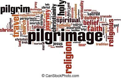 Pilgrimage word cloud