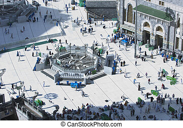 Pilgrims in Al-Masjid Al-Haram Around Al-Kaaba