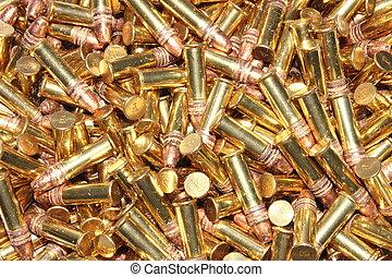 pilha, calibre, balas, .22