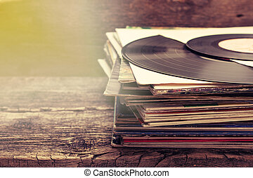pilha, de, antigas, registros