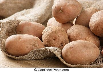 pilha, de, batatas