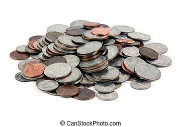 pilha, de, moedas