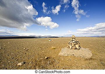 pilha, de, pedras