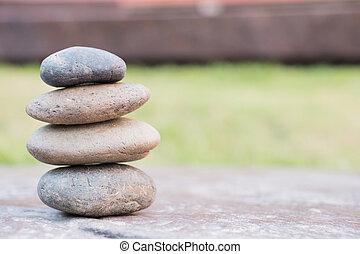 pilha, de, seixo, pedras