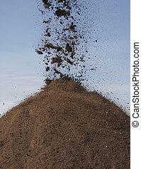 pilha, de, topsoil