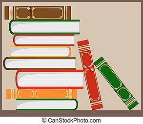pilha livros
