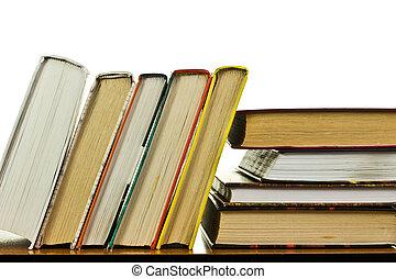 pilha livros, tabela