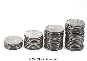 pilha moedas