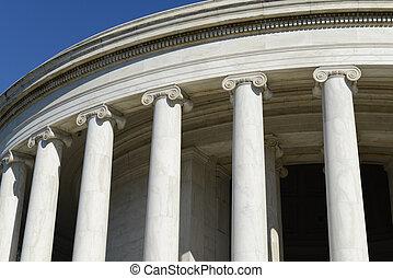 piliers, commémoratif, jefferson, washington dc