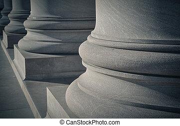 piliers, de, droit & loi, et, ordre
