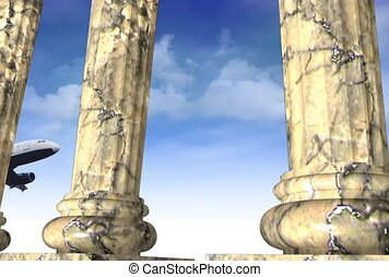piliers, pierre, avions