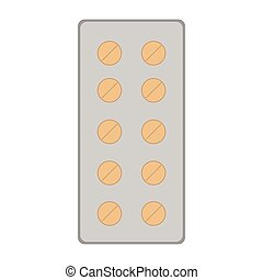 Pill blister icon
