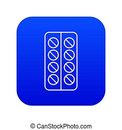 Pill box icon blue