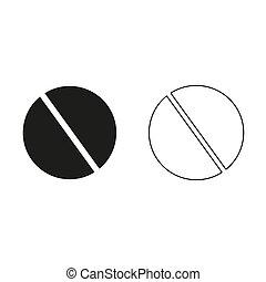 pill - green vector icon