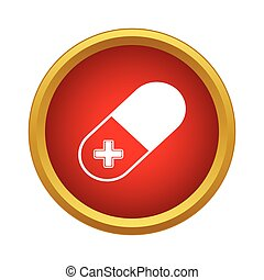 Pill icon, simple style