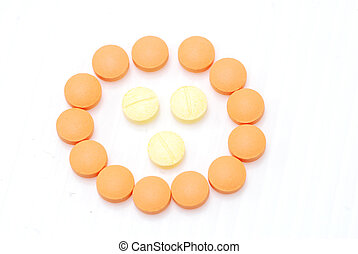 pill on white background