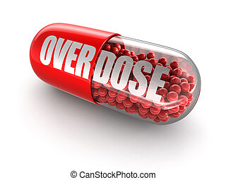 Pill Overdose. Image with clipping path