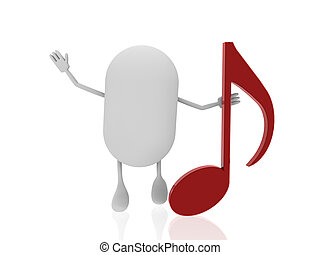 pill with music note
