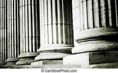 Pillar close-up - Close-up of a bright classical pillar