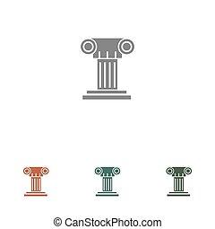 pillar icon isolated on white background
