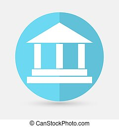 pillar icon on a white background - pillar icon