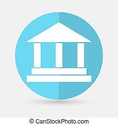 pillar icon on a white background