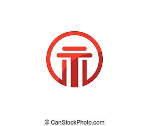 Pillar Logo vector Template