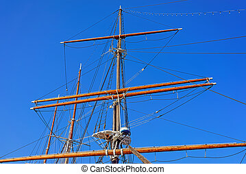 Pillar of a Ship on Delaware River in Philadelphia
