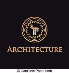 Pillar symbol of architecture