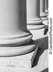 Pillars in Black and White