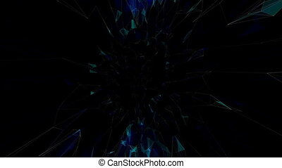 pillars of creation.Abstract plexus background for different...