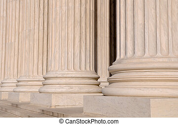 Pillars of Law and Justice US Supreme Court