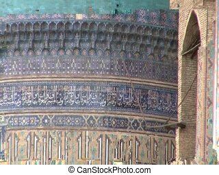 Pillars of the Registan in Samarkand, Uzbekistan