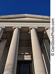 Pillars or Columns Blue Sky