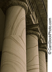 Pillars Symbolizing Law, Education and Government