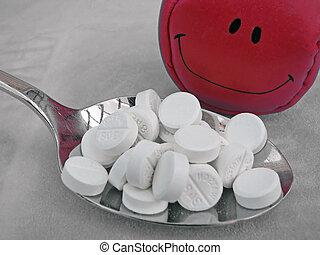pillen, vrolijke