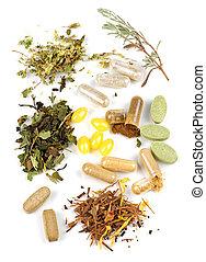 pillole, supplemento, erbaceo