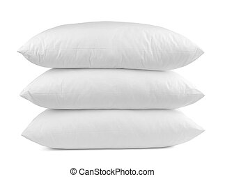 pillow bedding bed sleeping - close up of a pillow on white ...