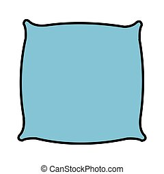 pillow cushion isolated icon