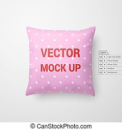 Pillow - Mock Up of a Pink Pillow Isolated on White...