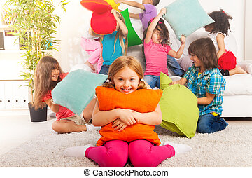 Pillow fight is fun