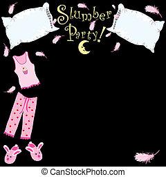 Pillow fight - Slumber Party invitation