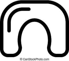 Pillow for the neck icon vector. Isolated contour symbol illustration