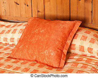 pillow in a hotel bed