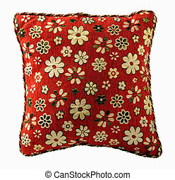 Pillow isolated on white backround with clipping path -...