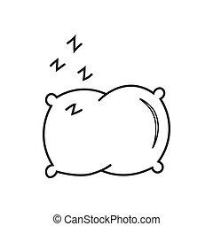 Pillow line vector icon