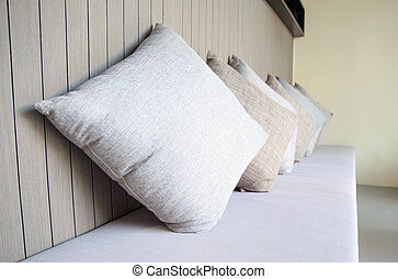 Pillow on sofa bed in living room