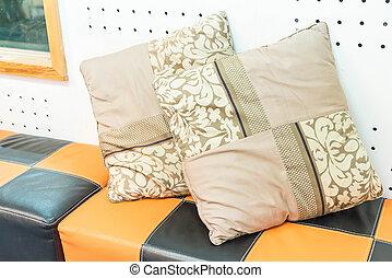 Pillow on sofa decoration