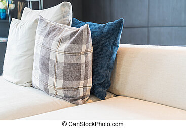 Pillow on sofa decoration interior