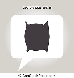 pillow vector icon